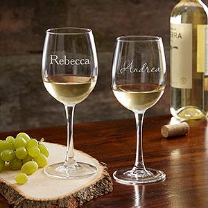 מפואר זוג כוסות יין בעיצוב אישי - חותם אישי UQ-71