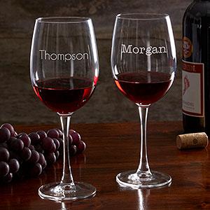 מעולה זוג כוסות יין בעיצוב אישי - חותם אישי ZN-19