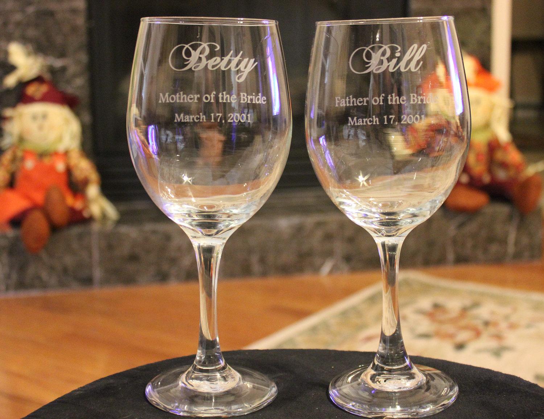 מדהים זוג כוסות יין בעיצוב אישי - חותם אישי TY-32